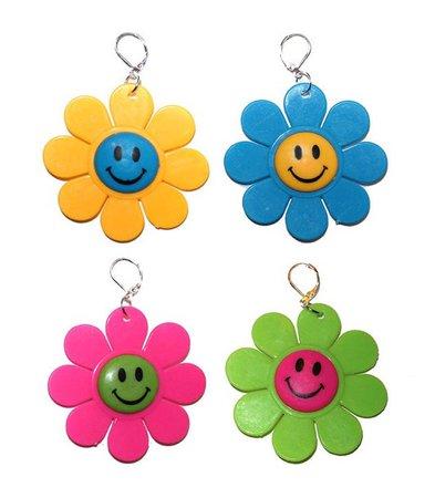 kitschy flower power earrings