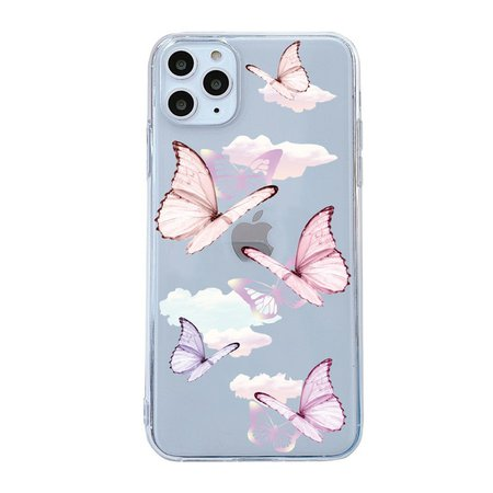 pink purple butterfly phone case