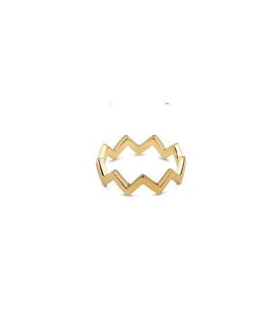 Strict Plain Zigzag Ring Gold - Syster P