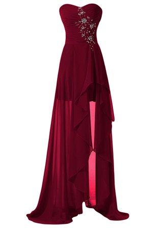 Dark red formal dress/gown