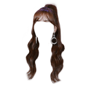 Brown Hair Bangs PNG
