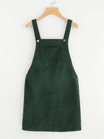 Bib Pocket Front Overall Dress