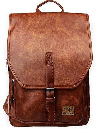 Zebella Women Leather Backpack Purse Fashion PU Causal Daypack School College Bookbag Laptop Bags