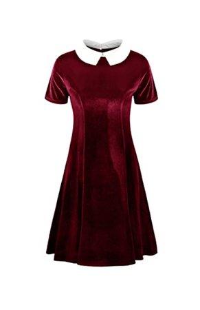 velvet peter pan dress