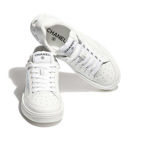Calfskin White Sneakers | CHANEL