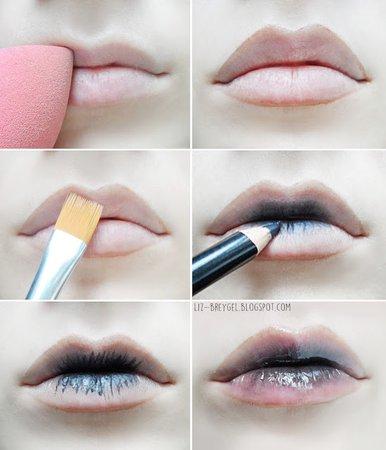 Black Ombre Lips 2