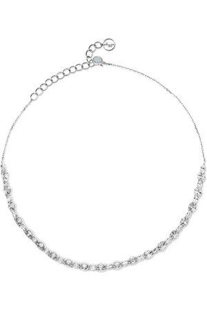 Anissa Kermiche | Riviera 18-karat white gold, sapphire and mother-of-pearl choker | NET-A-PORTER.COM