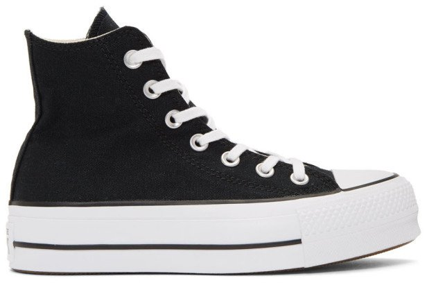 Black Chuck Taylor All Star Lift High Top Platform Sneakers