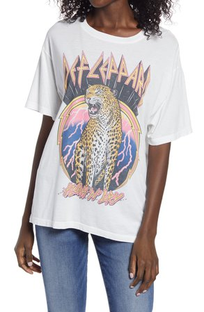 Daydreamer Def Leppard High 'N' Dry Graphic Tee   Nordstrom