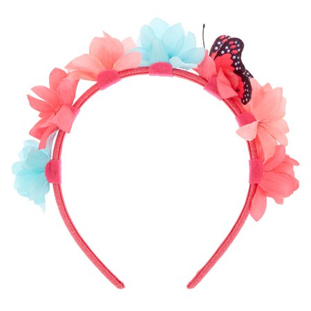 Claire's Club Flower & Butterfly Headband