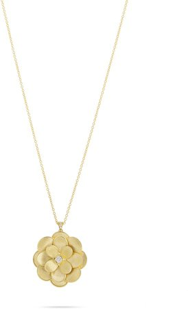 Large Petali Diamond Floral Pendant Necklace