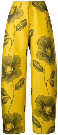Marques'almeida floral printed trousers