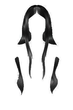 long dark hair edit png