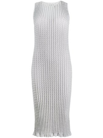 Marco De Vincenzo, pleated fitted midi dress