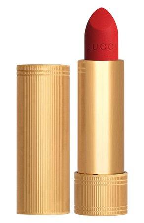 Матовая губная помада, оттенок 500 Odalie red GUCCI для женщин — купить за 3120 руб. в интернет-магазине ЦУМ, арт. 3614229374889