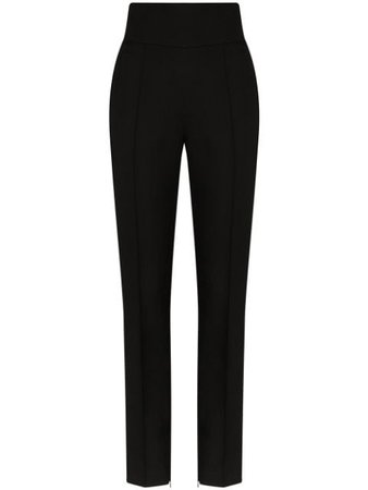 Alexandre Vauthier High-Waisted Tailored Trousers 202PA90001931106 Black | Farfetch
