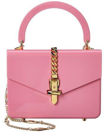 Gucci Sylvie 1969 Mini Plexiglas Top-handle Pink Shoulder Bag - Tradesy