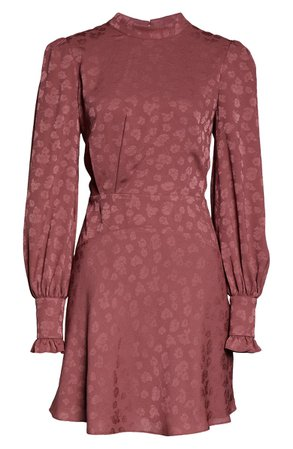 Ever New Floral Jacquard Long Sleeve Minidress | Nordstrom