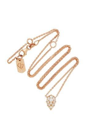 Venus 18K Rose Gold Diamond Choker by Carbon & Hyde | Moda Operandi