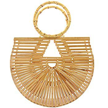 Amazon.com: Vintga Bamboo Handbag Handmade Tote Bamboo Purse Straw Beach Bag for Women (Bamboo Small): Shoes