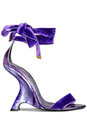 velvet purple tom ford shoes wedge