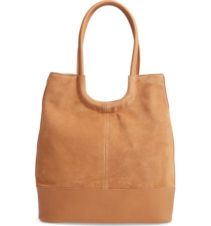 Sole Society Debdi Suede & Faux Leather Tote | Nordstrom