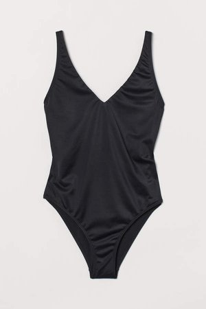 Back-laced Swimsuit - Black