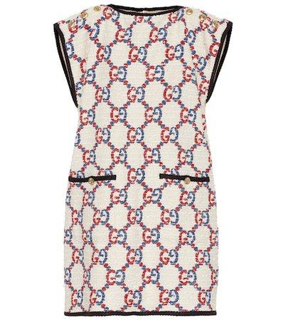 Cotton-blend tweed minidress