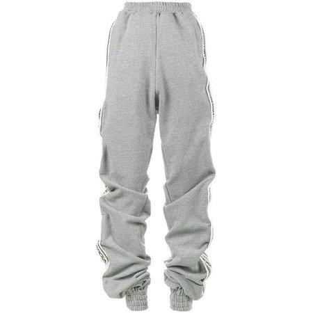 grey baggy sweatpants