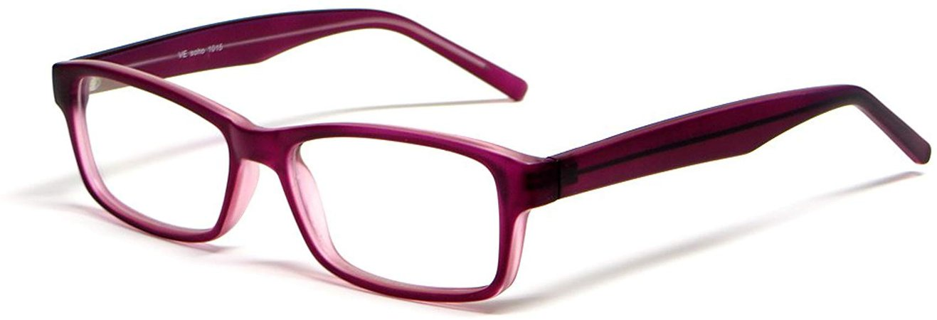 Amazon.com: Soho 1015 in Purple Designer Reading Glass Frames ; Demo Lens: Clothing