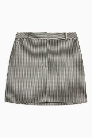 Black and White Mini Houndstooth Skirt | Topshop