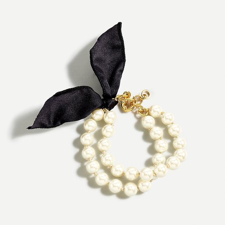 J.Crew: Layered Pearl Tie Bracelet For Women