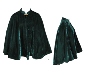 Short Cape Green Velvet Half Cloak Fashion Costume Medieval Renaissance Capelet | eBay
