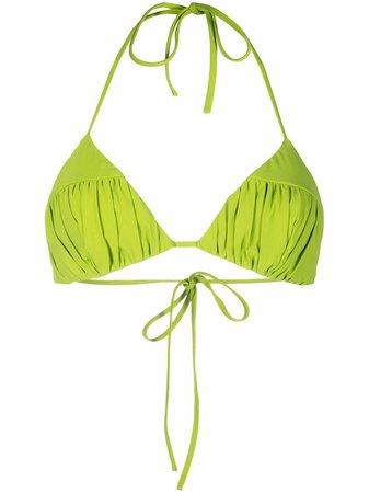 No Ka' Oi ruched triangle bikini top - FARFETCH
