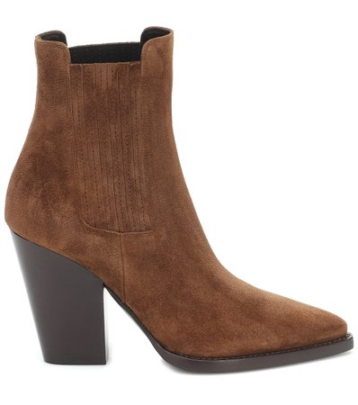 Saint Laurent, Theo 95 Suede Ankle Boots