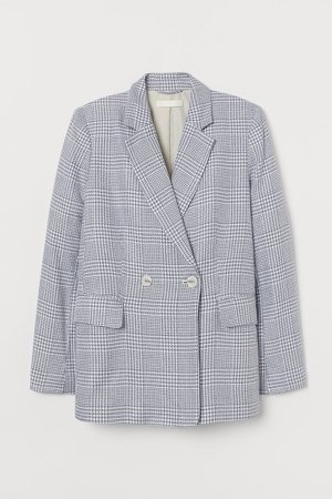 Double-breasted Blazer - Blue