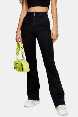 CONSIDERED Three Washed Black Skinny Flare Jeans