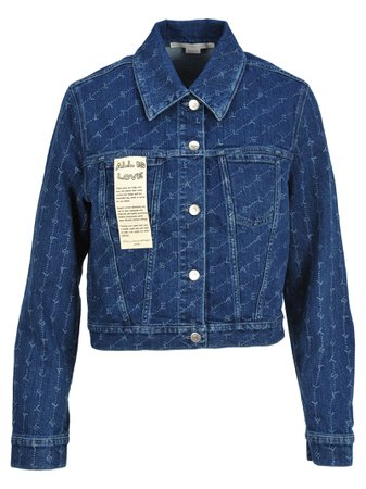 Stella Mccartney Stella Mccartney Monogram Print Denim Jacket
