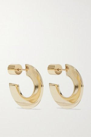 Jennifer Fisher | Drew Huggies gold-plated hoop earrings | NET-A-PORTER.COM