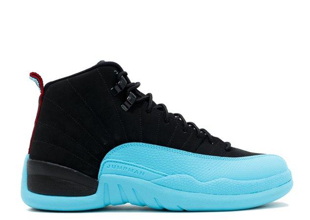 "Air Jordan 12 Retro ""gamma Blue"" - Air Jordan - 130690 027 - black/gym red-gamma blue | Flight Club"