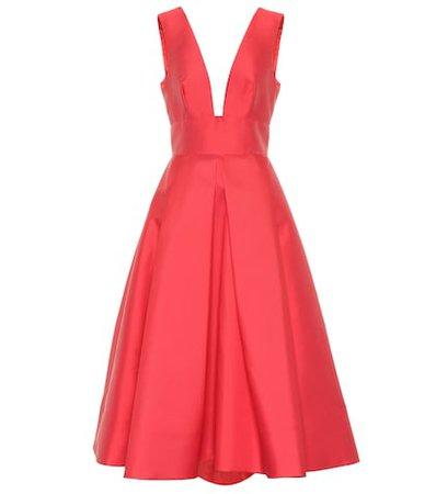 Silk-blend mikado dress