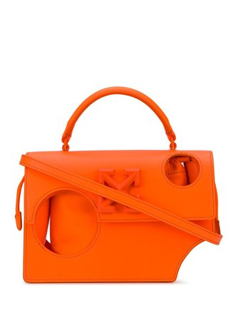 Off-White hole-detail 1.4 Jitney bag orange OWNA155F20LEA0016600 - Farfetch