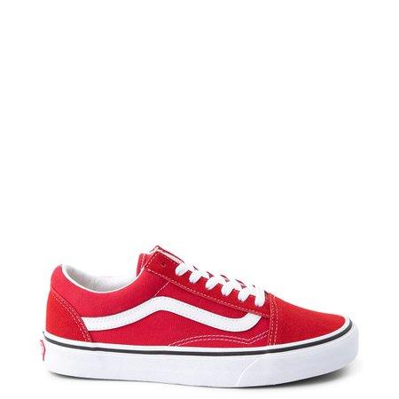 Vans Old Skool Skate Shoe - Racing Red | Journeys