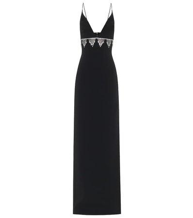 David Koma, Crystal-embellished column gown Dress