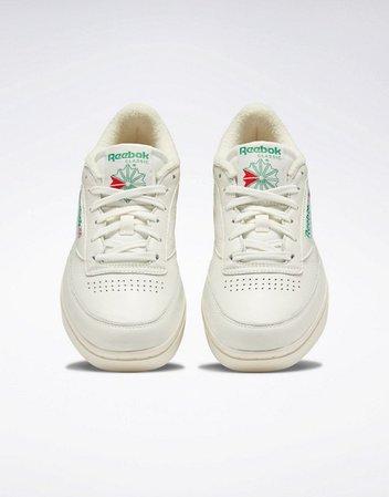 Reebok Club C Double sneakers in chalk | ASOS
