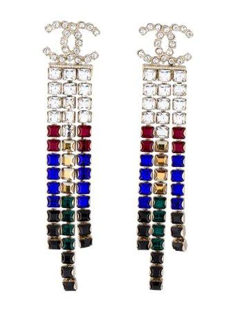 Chanel Strass CC Tassel Earrings - Earrings - CHA438929   The RealReal
