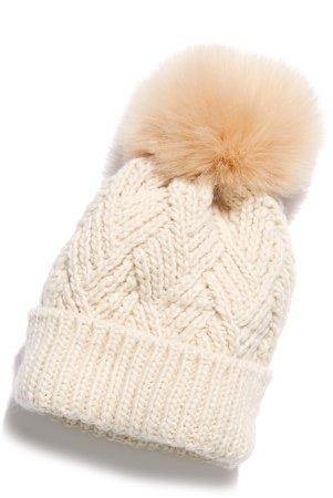 Pinnacle Pompom Wool Blend Beanie