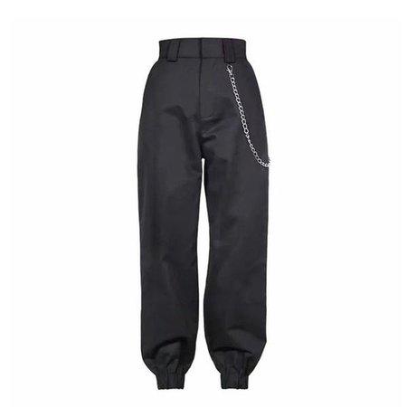 chain pants black