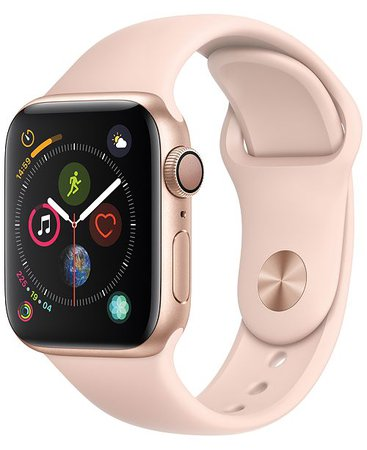 Apple Watch Series 4 Apple Watch Series 4 GPS, 40mm Gold Aluminum Case with Pink Sand Sport Band - Watches - Jewelry & Watches - Macy's