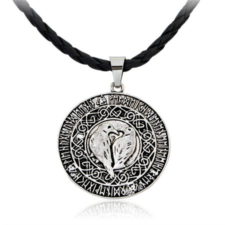 Norse Vikings pendant Valknut Raven rune pendant knot viking amulet jewelry Odin's Symbol of Norse Viking Warrior 1098-in Pendant Necklaces from Jewelry & Accessories on Aliexpress.com | Alibaba Group